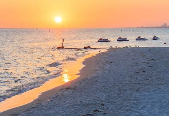 Travel Awaits - Beach Sunset