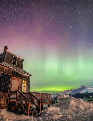 Millers Cabin with Northern Lights
