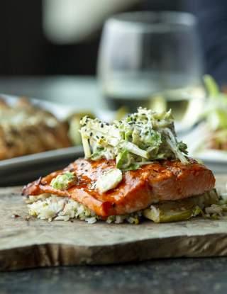 Seafood Salmon meal