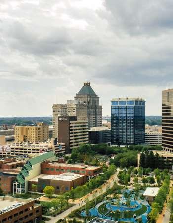 Downtown Greensboro Skyline