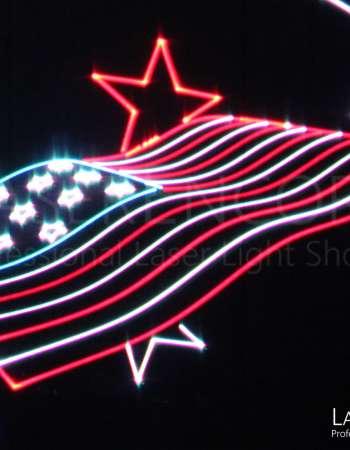 Laser Show Flag