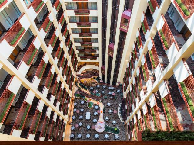 Embassy Suites Lobby View Down