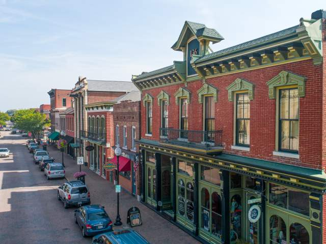 Main Street Aerial Shot