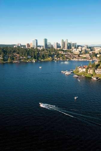 Bellevue Downtown Lake Washington Skyline