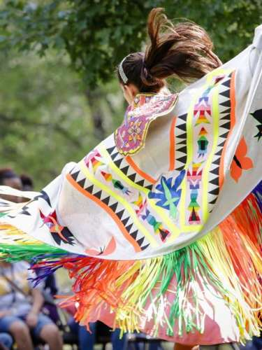 Ocmulgee Indian Celebration Dancing Woman