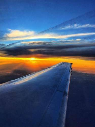 Contour Airlines Sunset