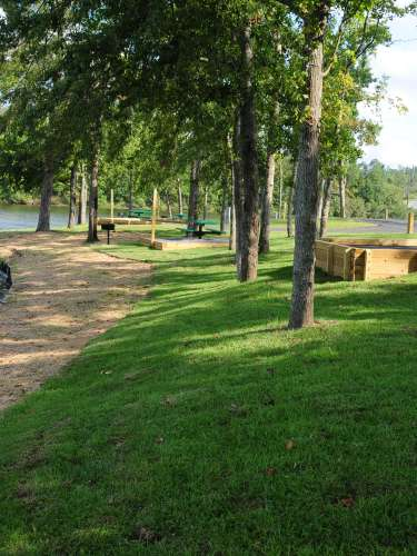 Picnic & BBQ Area On The Shore Of Lake Tobo in Macon, GA