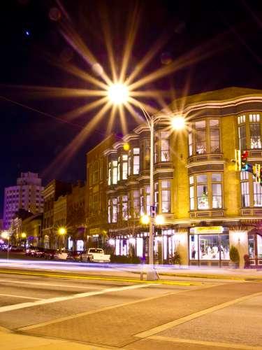 Downtown Macon at Night