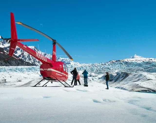 Glacier landing flightseeing tour from Anchorage Alaska