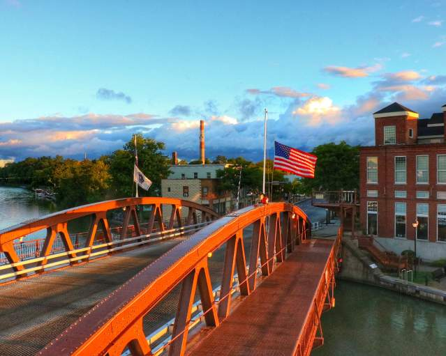 Erie Canal In Fairport