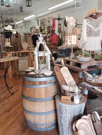 Inside 540 Merchantile in downtown McKinney