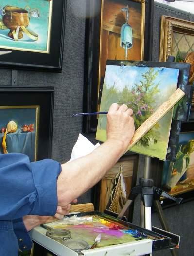Artist at Arts in Bloom