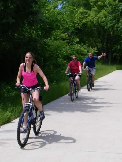 Bonnie Wenk Park-people biking on trails