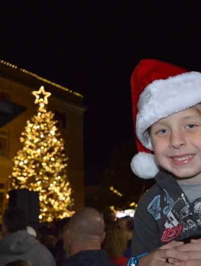 Boy in a Santa Hat