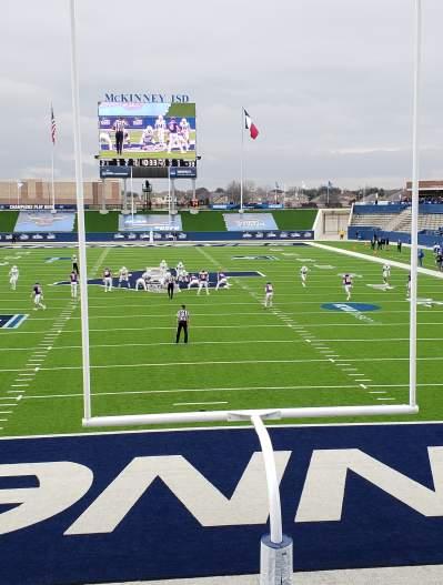 MISD Stadium looking north through south goal post