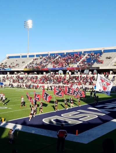NCAA football 2018 McKinney-Blazers score