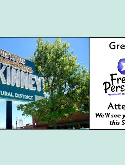 Photo welcoming koha-US to McKinney