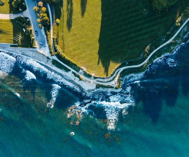 Cliff Walk Aerial 2021