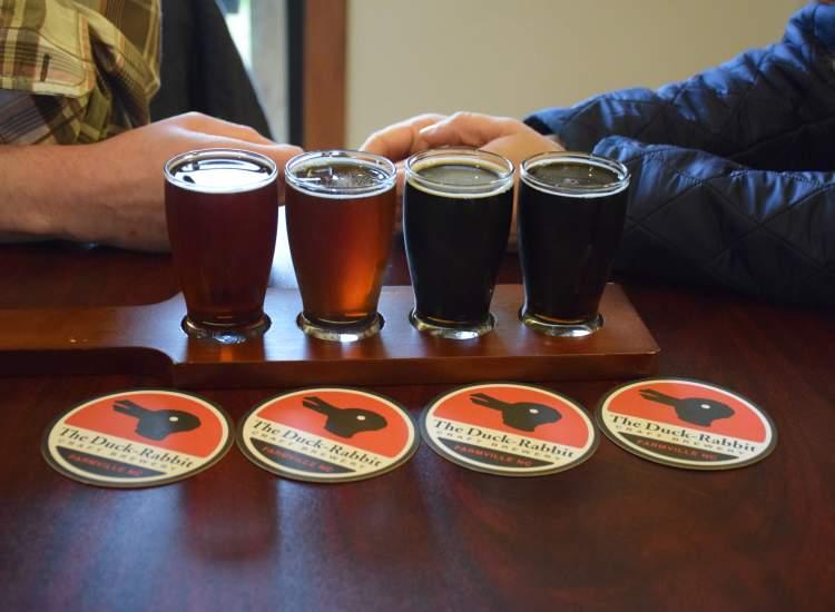 Duck Rabbit Brewery Beer Flight