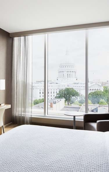A view of the State Capitol from an AC Hotel room