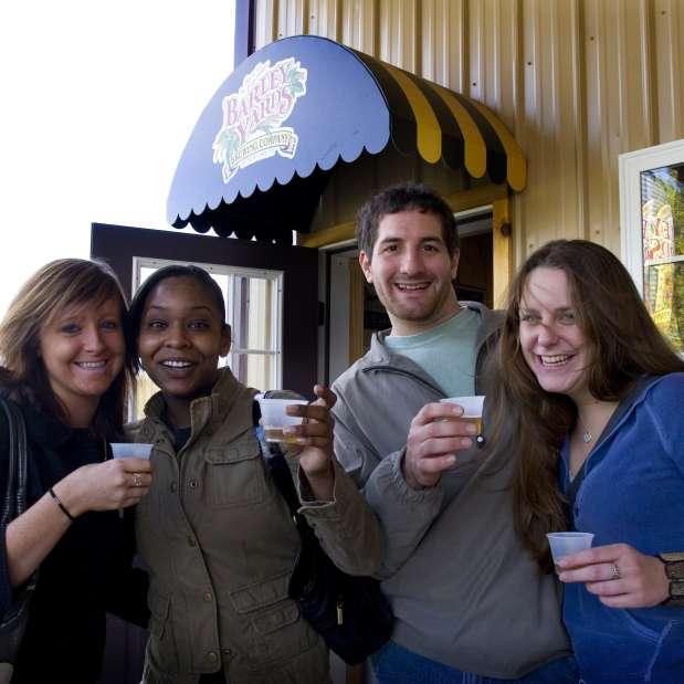Beer tasting at Warhorse Brewing