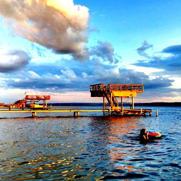 Dock over Cayuga Lake