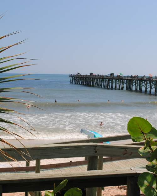 The Flagler Beach Municipal Pier is perfect for a day of fishing or just to check out the views.