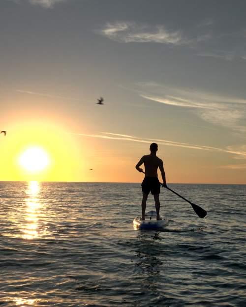 Anna Maria island manatee county paddle boarder
