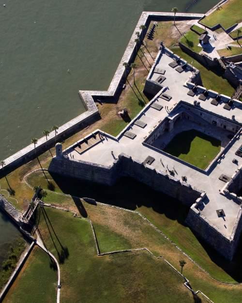 Castillo De San Marcos aerial