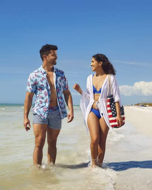 Fort De Soto Park - Military Patriotic - Millennials walking Beach - 005 - 2021 (Roundhouse Creative)