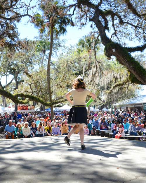 La Belle annual Swamp Cabbage Festival features dancers and armadillo races.