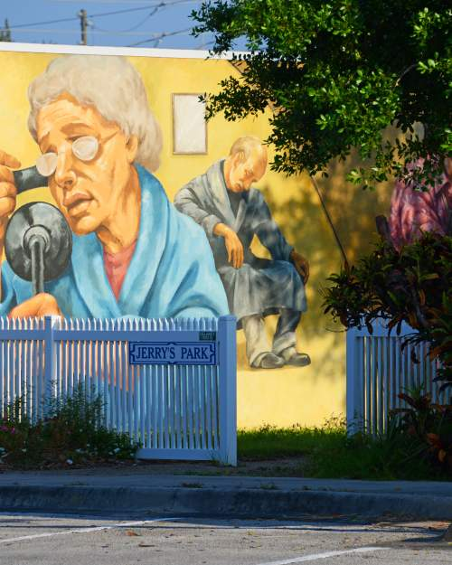 Lake Placid is the town of murals.