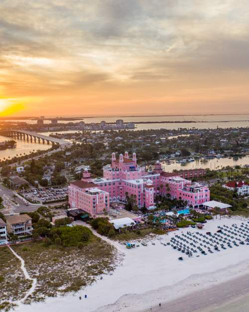 Don CeSar Hotel on St. Pete Beach on Gulf of Mexico aka Pink Palace