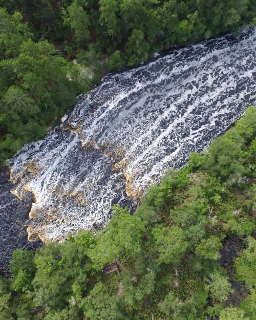 Big Shoals State Park in north Florida features the largest whitewater rapids in the Sunshine State