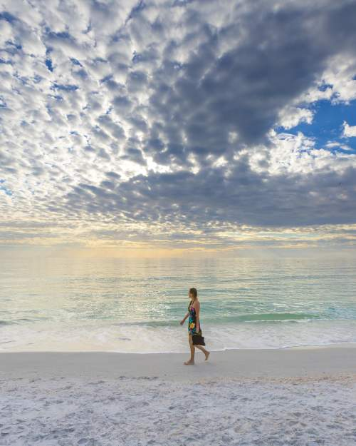 woman alone on a beach