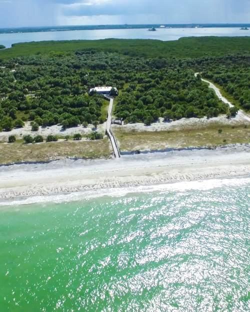 aerial of shoreline