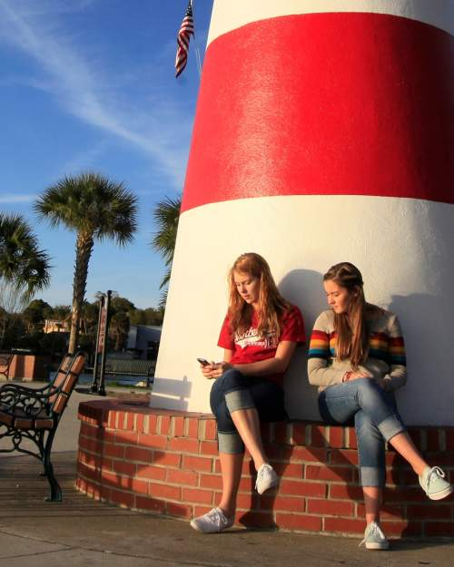 The lighthouse on Palm Island Park in Mount Dora, a charming historic small town that offers an array of shopping, dining, lodging, boating and several annual festivals.