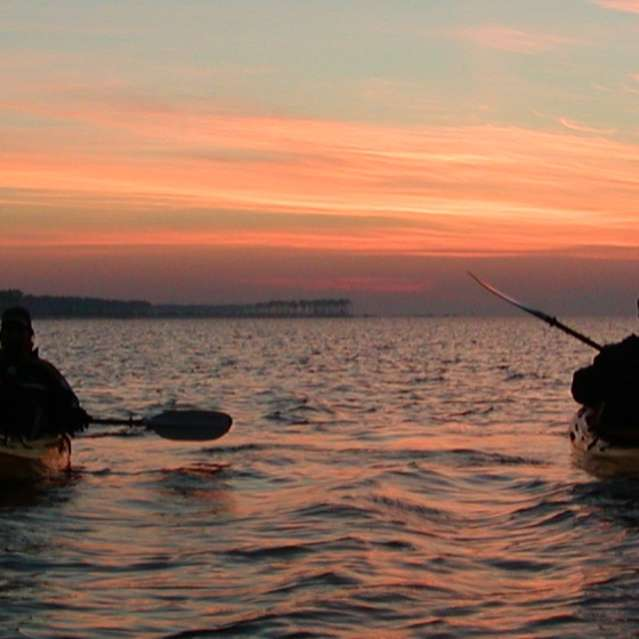 Sunset over the Mississippi Sound