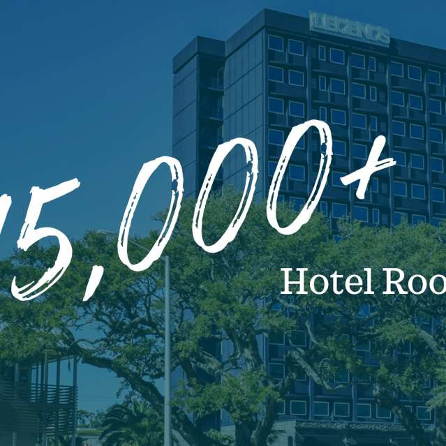 15,000 + rooms