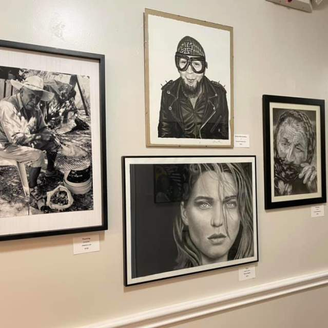 Photo of a photography exhibit at The Price Center.