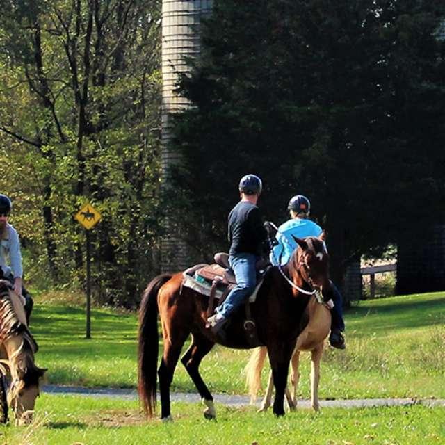 People On Horseback on the Rail Trail