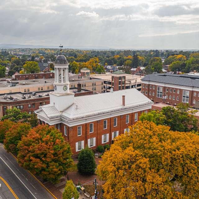 Downtown Carlisle Drone