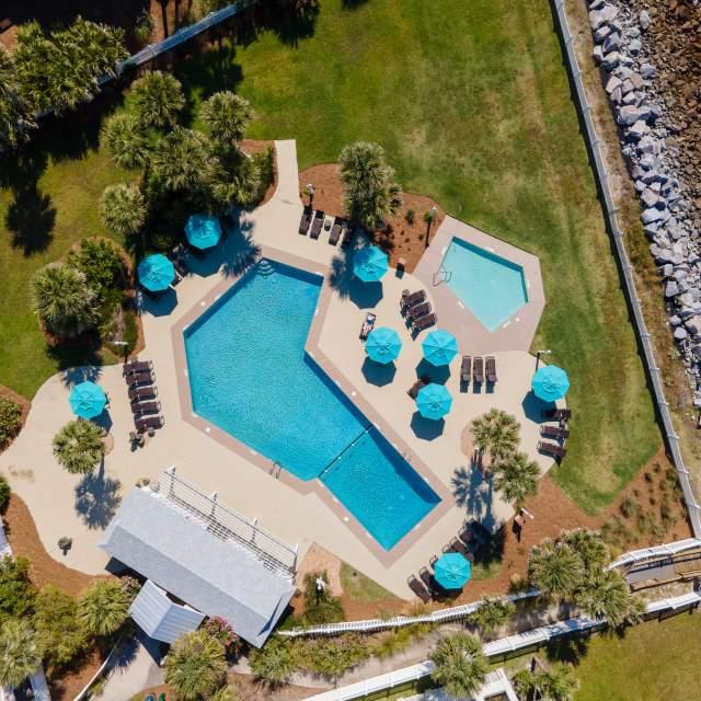Aerial view of Resort pool