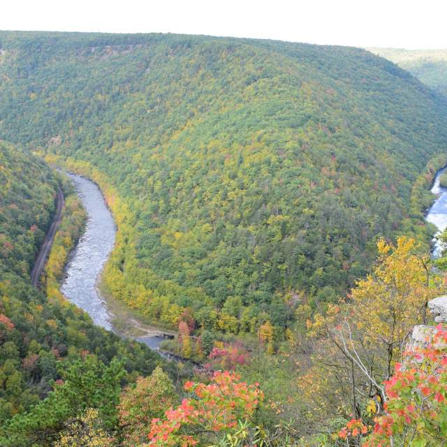 Scenic View of Jim Thorpe in the Pocono Mountains
