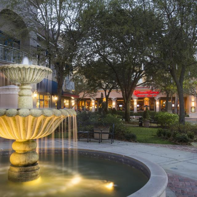 Winter Park Village fountain