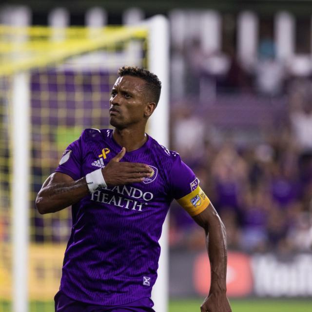 Orlando City Soccer Club Nani celebrating goal