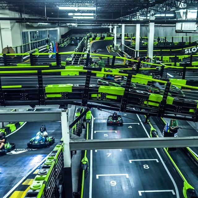 Andretti Indoor Karting & Games multi-level tracks
