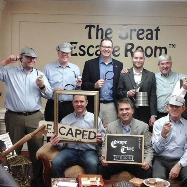 The Great Escape Room group pose