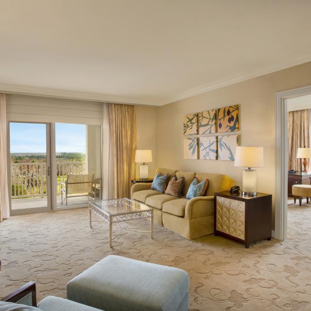 Waldorf Astoria Orlando suite  living room