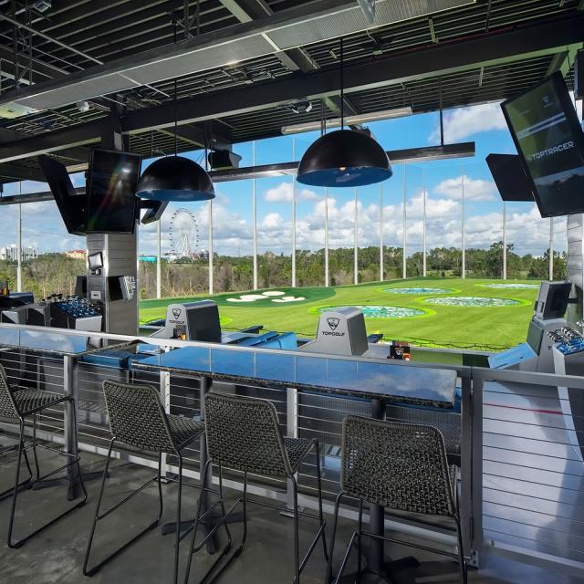 Topgolf view of golf